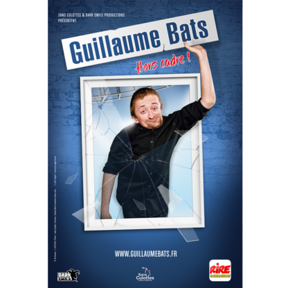Affiche spectacle streaming guillaume bats